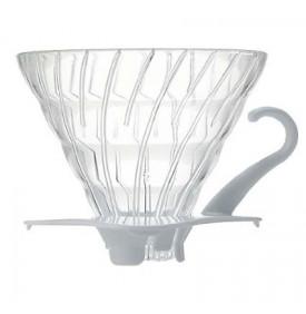 V60 Dripper en verre transparent 1-4 tasses