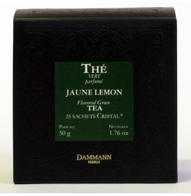 THE VERT JAUNE LEMON- Boîte 25 sachets Cristal