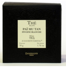 THE BLANC PIVOINE - Boîte 25 sachets Cristal