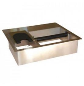 Knock box  acier encastrable avec support tamper intégré