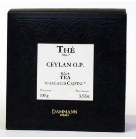 Thé Ceylan OP   50 sachets Cristal   Dammann Frères