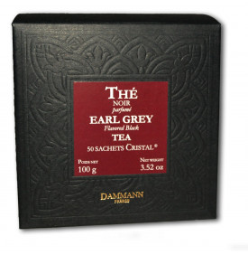 Thé noir Earl Grey   50 sachets   Dammann Frères