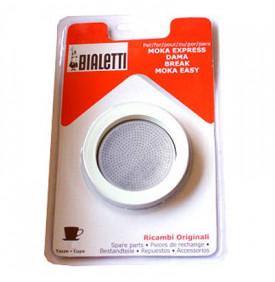 Kit Bialetti 3 joints + filtre Cafetière aluminium Bialetti 2 5.90004 Un set Bialetti 3 joints + 1 filtre pour votre cafetière i