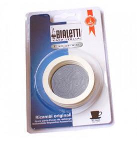 Kit Bialetti 3 joints + filtre Cafetière induction Bialetti 2 6.95004 Un set Bialetti 3 joints + 1 filtre pour votre cafetière i