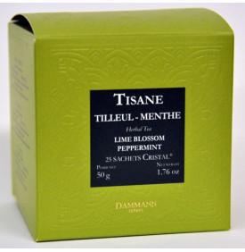 Tisane Tilleul Menthe - Boite de 25 sachets