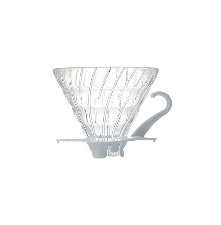 V60 Dripper en verre transparent 1-4 tasses