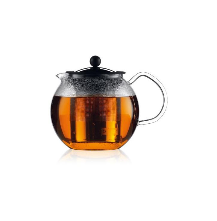 Théière à piston filtre en inox brillant Assam Bodum
