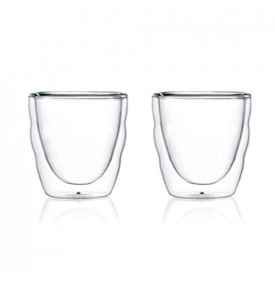 Tasses PILATUS Bodum | Set 2 verres double paroi | Mon-Cafe.com