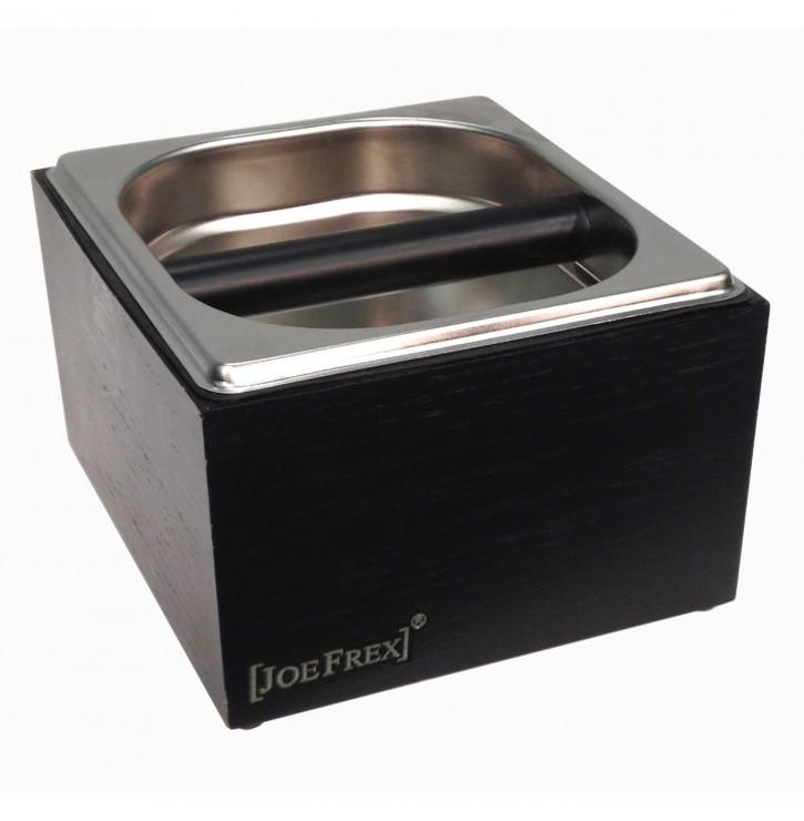 Knock Box Classique Noire bois et inox - Concept Art | Mon-Cafe.com
