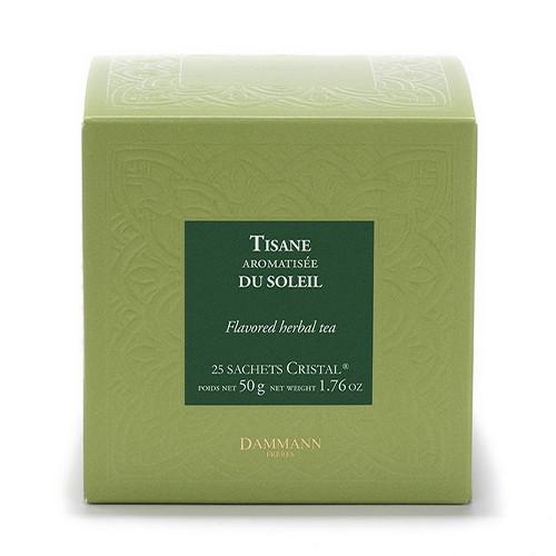 Tisane du Soleil - Boite de 25 sachets Dammann Frères 3 9.499959 Cynorrhodon, camomille, fleur d'oranger, écorces d'orange, hibi
