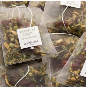 Tisane du Soleil - Boite de 25 sachets Dammann Frères 5 9.499959 Cynorrhodon, camomille, fleur d'oranger, écorces d'orange, hibi