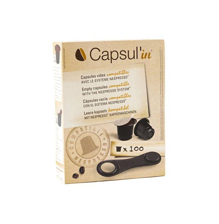 Boîte capsul'in 100 compatible Nespresso®