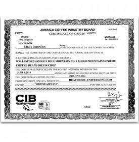 certificat blue mountain véritable